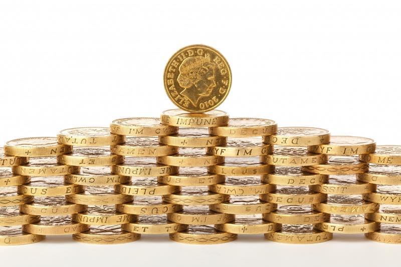 積み上げた金貨