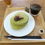 抹茶のホットケーキドリンクセット